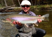 Karlin with a Nice Steelhead